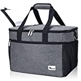 Voova Collapsible Cooler Bag Insulated Leakproof 40-Can Soft Sided Coolers Portable Lunch Box Large...