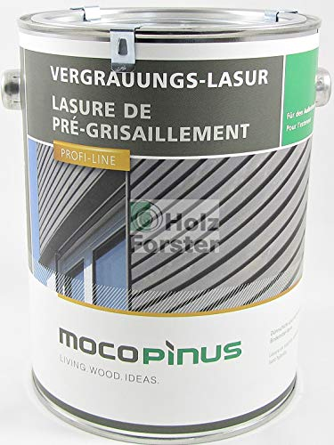 MOCOPINUS Alpincolor Vergrauungslasur V-1221 silbergrau, 2,50 Liter