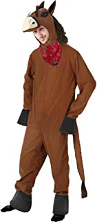 Unisex Adult Horse Halloween Costume (Size: Large) Brown