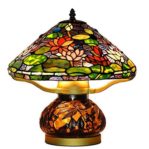 Lámpara madre decoración hecha a mano lámpara de Vintage magnífico pura decoración del arte del vidrio de color de 16 pulgadas Europea