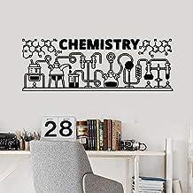 Calcomanías De Pared Educativas Fórmula Química Herramientas De Química Pegatinas De Vinilo Laboratorio De Ciencias Aula D...