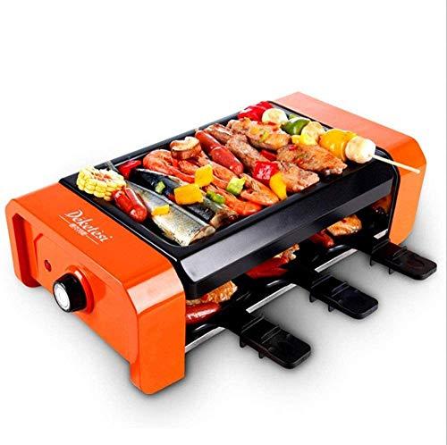 Yongqin Hot Pot Barbecue Placa Eléctrica Sin Humo Eléctrica Con Plancha Antiadherente...