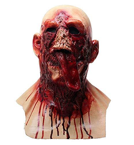 HENGYUTOY MASK Máscara de Halloween con sangre, máscara de vampiro, máscara espeluznante, disfraz de cadáver, máscara para adultos, unisex