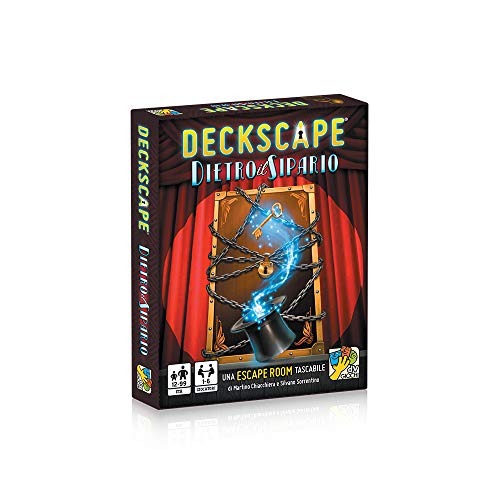 dV Giochi- Deckscape-Dietro Il Sipario-Una Escape Room Tascabile-Edizione Italiana, Multicolore, DVG5703