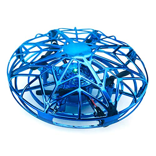 Decdeal UFO Mini Drohne RC Fliegender Ball RC Quadcopter Infrarot-Induktions-Flying Ball mit 360°Rotierenden und LED-Leuchten Inkl. Fernbedienung
