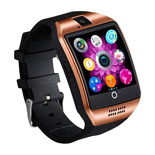 mediatec smartwatch Smartwatch Orologio Fitness Uomo Donna Bambini Smart Watch con SIM Card Slot Touch Screen Camera Orologio Contapassi e Calorie da Polso Fitness Tracker per Samsung Huawei Xiaomi Android ios (Oro)