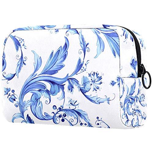 Trousse de toilette pour femme Motif floral Bleu