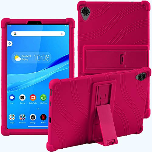 Lenovo Tab M8 TB-8705F TB-8505F 8-inch, ATOOZ PC Bracket Tablet Silicone Case,Anti-drop For Lenovo Tab M8 Case (Rose Red)
