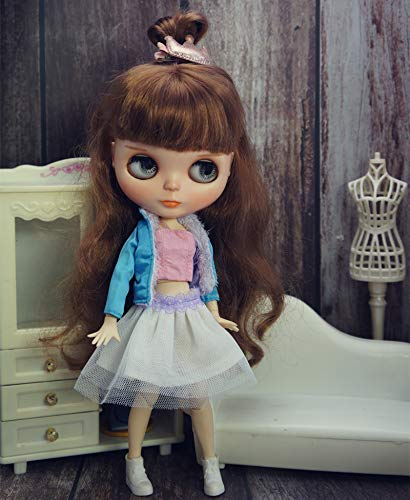 leoglint Blythe Doll Clothes Shirt and Skirt and Coat Clothes for Blythe Doll 30 cm 1/6 Bjd Dolls Azone ICY Licca Doll