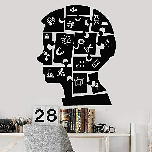 JXWH Niño Puzzle Educación Etiqueta de la Pared Calcomanía de Pared de Vinilo Aula Química Física Escuela Etiqueta Dormitorio Juvenil Decoración 33x42cm