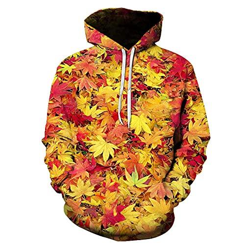 Sweatshirt Pullover Plancher Flower Bird Casual 3D Digital Impression Ruban À Manches Longues-A3_XL