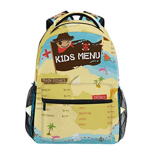 DXG1 Sac à dos d'école, de voyage, pour ordinateur portable, pour garçons, filles, hommes, femmes, universités, randonnée, camping, menu pour enfants