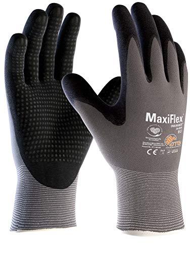 (12 Paar) ATG Handschuhe 34-844 Montagehandschuhe MaxiFlex Endurance 12 x grau/schwarz 10 (XL)