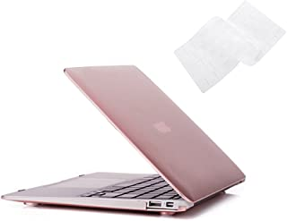 Ruban MacBook Air 13 Inch Case - Fits Previous Generations A1466 / A1369 (Will Not Fit 2018 MacBook Air 13 with Touch ID), Slim Snap On Hard Shell Protective Cover and Keyboard Cover,Rose Gold