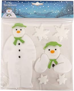 The Snowman, Window Gel Stickers - Pack of 6