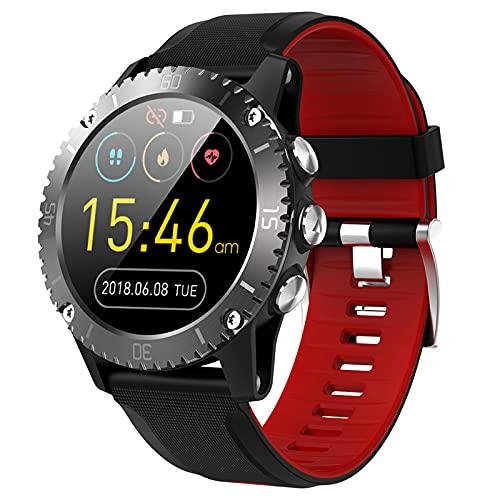 BNMY Smartwatch Hombre Relojes Inteligentes Hombre Impermeable IP68,Pulsera De Actividad Inteligente con Pulsómetros Podómetro Cronómetros Monitor De Sueño para Android iOS,Rojo