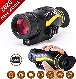HGJZ Monoculaire Vision Nocturne Infrarouge 5X35,Enregistrement d'images et de Vidéos Fonction de Rejeu avec 32GB TF Carte 1.5 inch écran LCD TFT pour Infrarouge HD Chasse la Faune Jusqu'à 300m