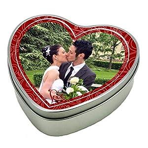 bedruckte Geschenkdose Herz aus Metall – Motiv 1 (Foto) mit Ihrem Wunschfoto