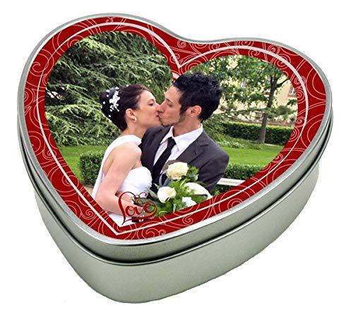 bedruckte Geschenkdose Herz aus Metall - Motiv 1 (Foto) mit Ihrem Wunschfoto