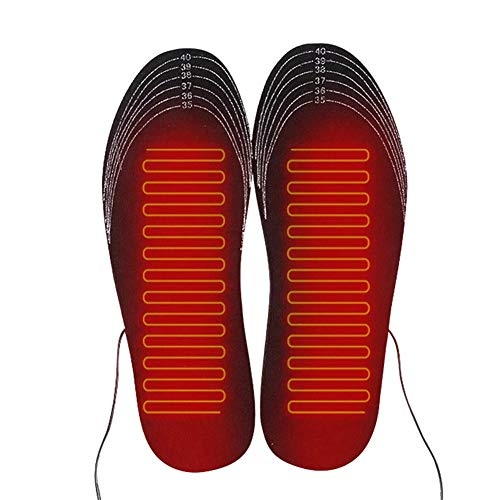 FJLOVE Electric Heated Insoles Rechargeable Constant Temperature with USB Insoles,Washable Cutting Heated Shoes Insoles for Hunting,Skiing,Fishing,Hiking,S