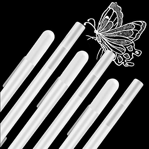 Penna Bianca per Artista 6 Pezzi, Set di Penne a Gel a Punta Fine da 0.8 mm, Evidenziare Schizzi di Penne per Ritorno a Scuola, Artisti, Carta Scura, Disegno, Arte e Progettazione Forniture