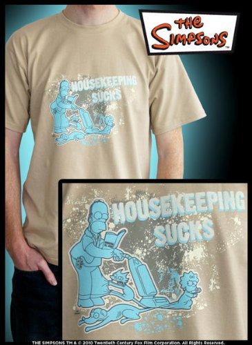 SIMPSONS T-Shirt Beige Homme \