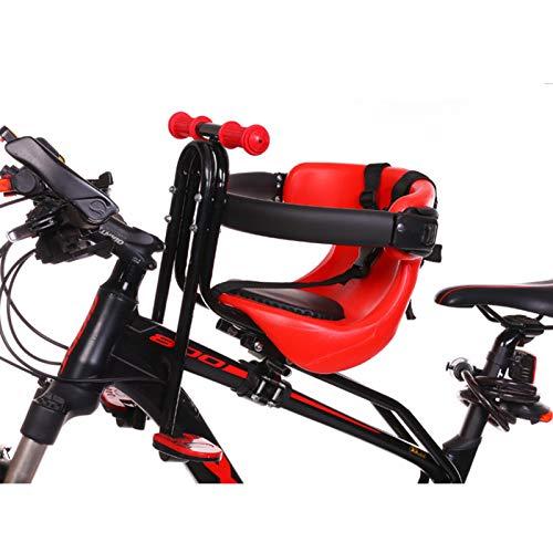 JTYX Bicicleta Niños Asiento de Montaje Delantero para niños con pasamanos Instalar Asiento de Bicicleta Delantero Portador de niños Hebilla de cinturón