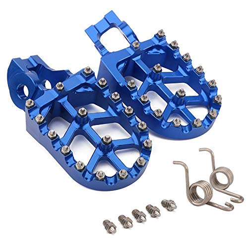 Pedale CNC MX Pedane Pedane Pedali Riposo Per TC85 TC125/FC TC250 TE/FE150-501 TX125 TX/FX300-450 FS450 (Blu)