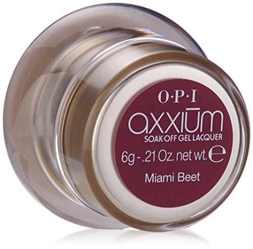 OPI axxium soak-off ,miami beet, 1er Pack (1 x 6 g)