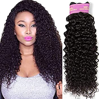 RECOOL 10A Brazilian Hair Bundles Curly Hair Products Human Hair Extensions One Bundle Separately Bundle Single Bundle Hair Natural Color 1 bundle 12 inch,curly