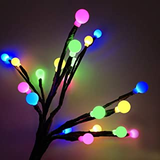 Anordsem Solar Garden Lights Solar Stake Lights DIY Foldable Branches IP67 LED Outdoor Home Decor Artificial Trees for Chr...