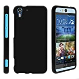 TurtleArmor | Compatible with HTC Desire Eye Case [Slim Duo] Two Piece Hard Cover Slim Snap On Case on Black - Black