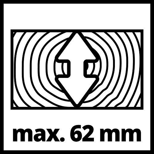 Einhell Zug-Kapp-Gehrungssäge TC-SM 2131/1 Dual (1.500 W, Ø210 x Ø30 mm Sägeblatt, 31 cm/21 cm Schnittbreite 90°/45°, Neuheit 2020, Zugfunktion, Spannvorrichtung, inkl. Hartmetall-Sägeblatt) - 13