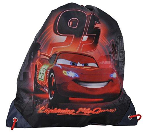 Ragusa-Trade Disney Cars Lightning McQueen - Turnbeutel Sportbeutel Schuhbeutel, 38 x 34 cm, schwarz