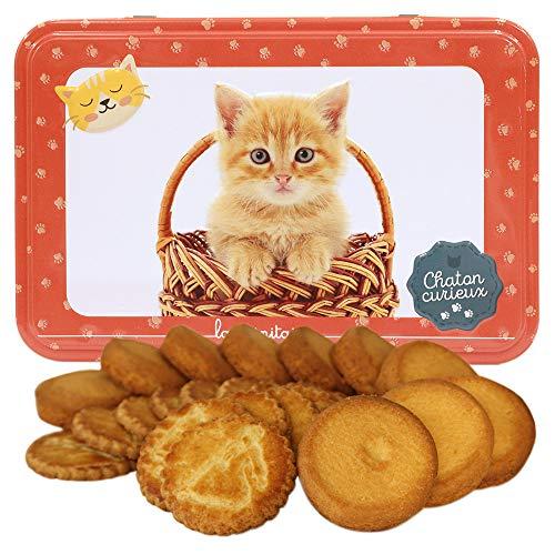 ラ・トリニテーヌ キャッツ オレンジ缶(キュリエ)ネコ ガレット・パレット詰め合わせ