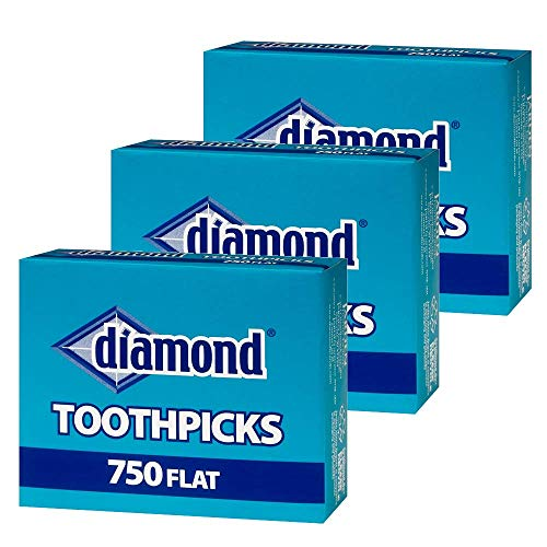 Diamond Flat Toothpicks 750ct 3 Pack