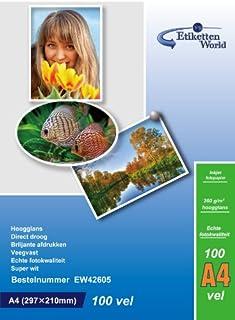 EtikettenWorld - 100 hojas de papel fotográfico A4 260 g / m² brillo resistente al agua (B004SVASGI) | Amazon price tracker / tracking, Amazon price history charts, Amazon price watches, Amazon price drop alerts