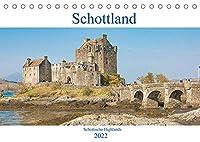 Schottland - Schottische Highlands (Tischkalender 2022 DIN A5 quer): Dieser Kalender nimmt Sie mit auf einen Trip rund um die wunderschoenen schottischen Highlands. (Monatskalender, 14 Seiten )