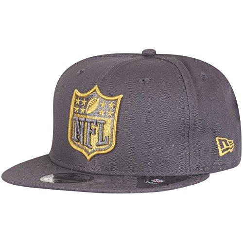 New Era 9Fifty Snapback Cap - NFL Shield Graphit/Gold S/M