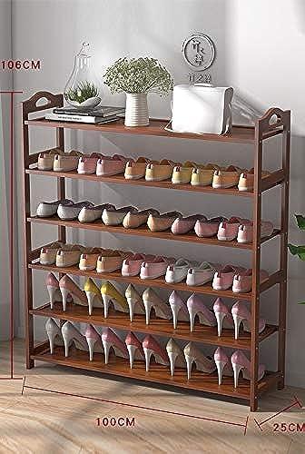 Hhor étagère à Chaussures, Porte-Chaussures en Bambou pour Chaussures, Bottes, Pantoufles, pour Salon, Entrée, Couloir et Vestiaire (Taille   XL)