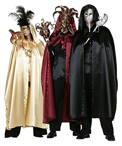 Disfraz hombre Cape veneciano de colour burdeos, 50 - 60 Gr.