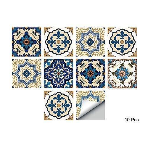 Etiqueta engomada de la baldosa de la Pared del Piso de Siempre para la decoración del hogar, Peel & Stick Splashback Autoadhesivo, calcomanías de Azulejos para la Cocina Baño