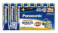 パナソニック 【ケース販売特価 40本セット(8本入×5)】 アルカリ乾電池 《EVOLTA》 単4形 シュリンクタイプ LR03EJ/8SW_5set