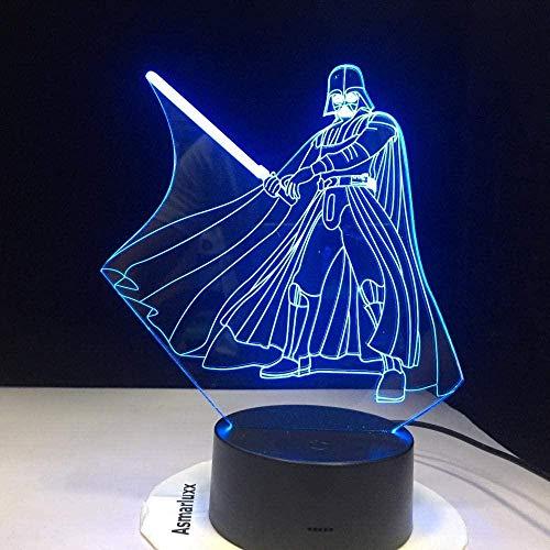 Tatapai Lámpara de Ilusión 3D Led Noche Luz Novedad Oscuro Vader USB Lámpara de Mesa Mesita para Niños Regalos Directos Mundiales