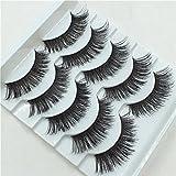 5 Pares/Set False Eyees Gruesa Cruz Ojo Falso Naturalmente Delgada ExtensióN Es Escenario De Belleza Maquillaje Ahumado Constituyen Herramientas