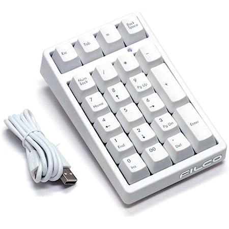 FILCO Majestouch TenKeyPad 2 Professional Cherry MX静音スイッチ USBポータブルメカニカルテンキーパッド マッドホワイト FTKP22MPS/MW2