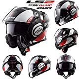 Casque moto modulable LS2 FF399 Valisant Avant Nouveau casque intégral moto Convertible Flip-Up Graphique...