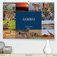Sambia - wundervolle Wildnis (Premium, hochwertiger DIN A2 Wandkalender 2022, Kunstdruck in Hochglanz): Das wahre Afrika erleben (Monatskalender, 14 Seiten )