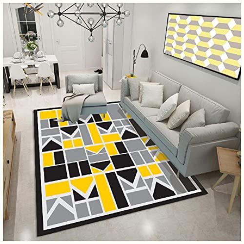 GJHYJK Zona de Piso Interior Mat Geométrico Patrón Cómodo Alfombra Cocina Cocina Sala de Estar Dormitorio Suelo Estera Antideslizante Decoración Manta,4-200 * 300cm