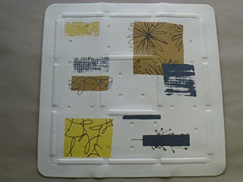 Duscheinlage 55cm x 55cm Contrasti Natur beige braun gelb